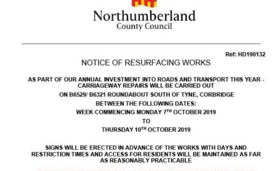Road Closure – South Side Roundabout